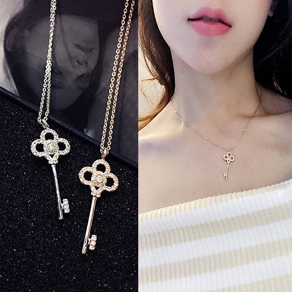 Diamond Key Necklace