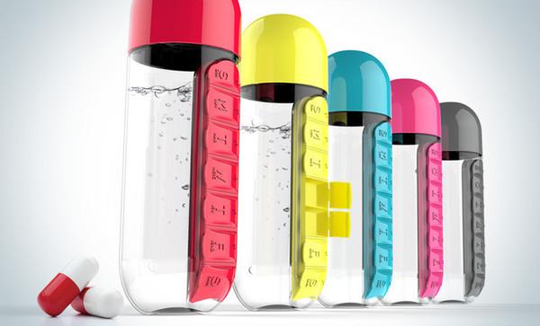 Pill Organiser Water Bottle 600ML
