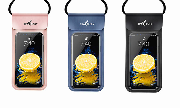 Travelsky IPX8 Water Proof PVC Phone Pouch