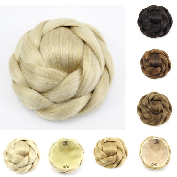 Clip-in Hair extension bun