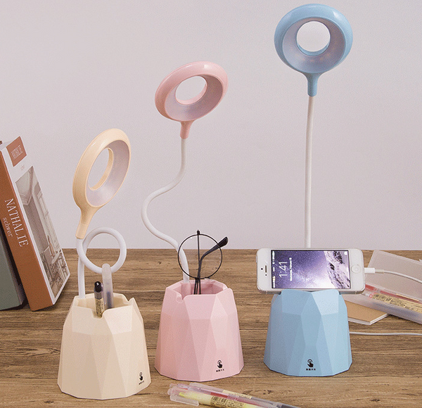 Adjustable Desktop LED lamp with phone stand