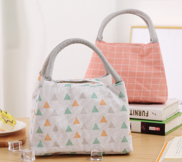 Portable Pattern Thermal Lunch Bag