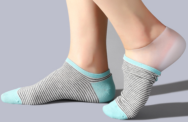 Pair of Invisible Height Increase Silicone socks