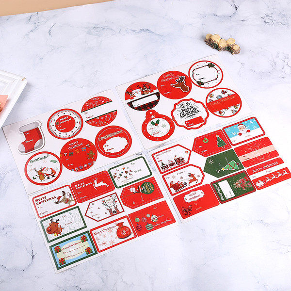 30pcs Christmas gift packaging stickers collection