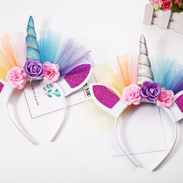 Unicorn kids headband