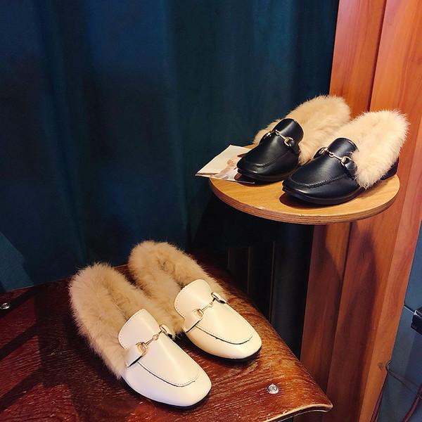 Faux Fur Soft PU Comfy shoes