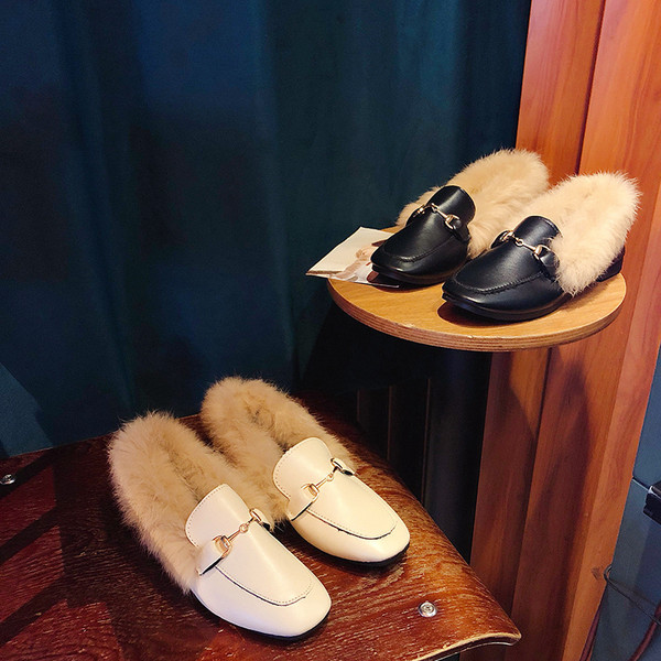 Faux Fur Soft leather  Comfy shoes