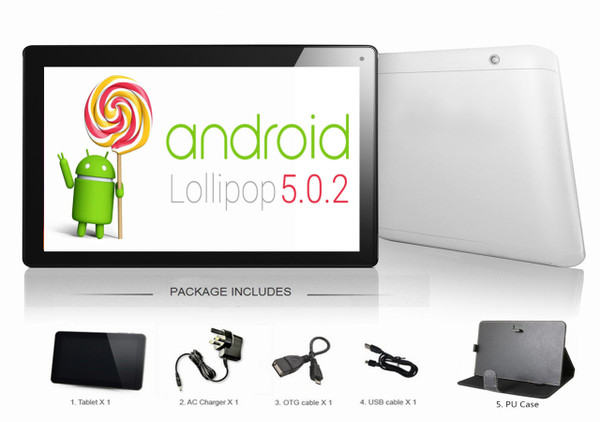 Google Android 5.0 10.1'' SmartPad tablet bundle