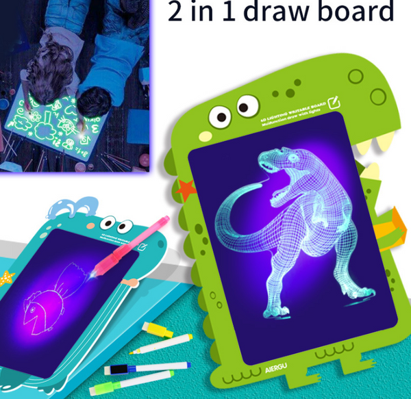 Fun learning Pre-school education 2in1 Glowing Pad