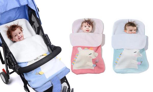Unicorn Winter Warm Baby Footmuff Swaddle Wrap Blanket