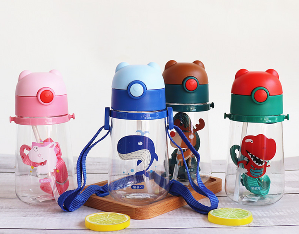 Kids 400ML water bottle with Strap
