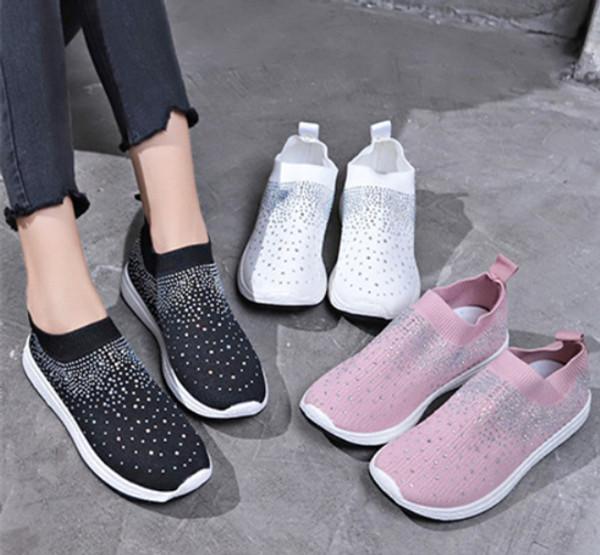 Crystal Shiny Sock Sneakers