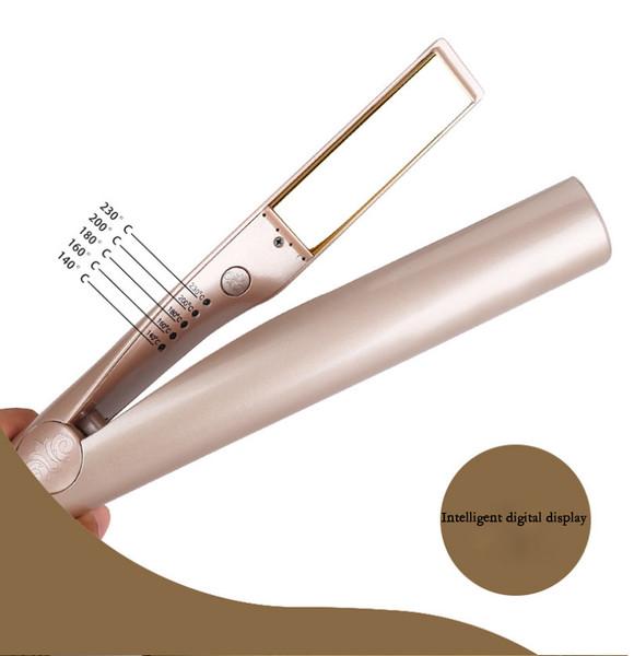 2in1 360° rotate Premier ceramics Hair Rose Gold Straightener and Curler