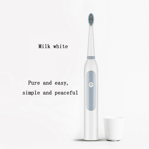 Electric toothbrush men and women adult household non-rechargeable soft fur full automatic waterproof couple sonic toothbrush
