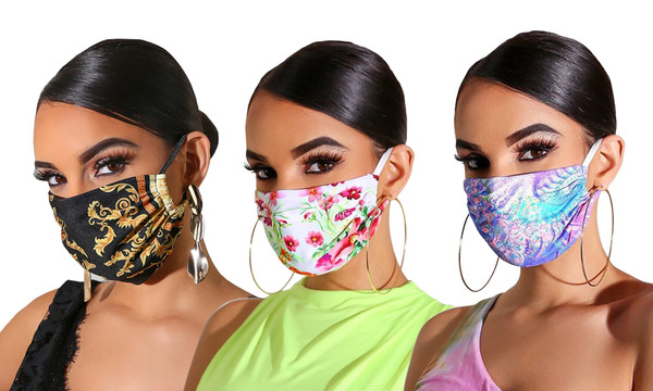 Reusable Fancy print Face Masks pack of 3