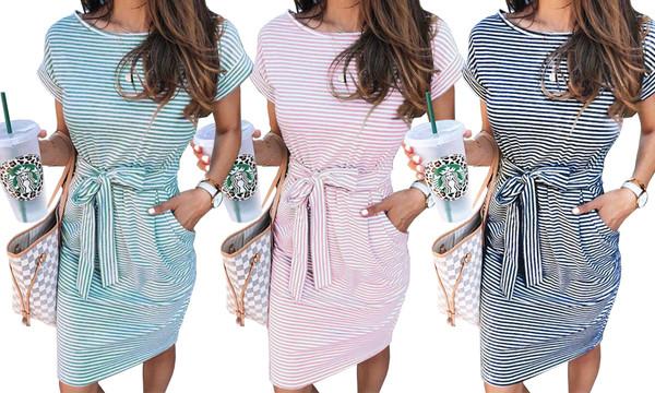 Bow Strip Casual Dress