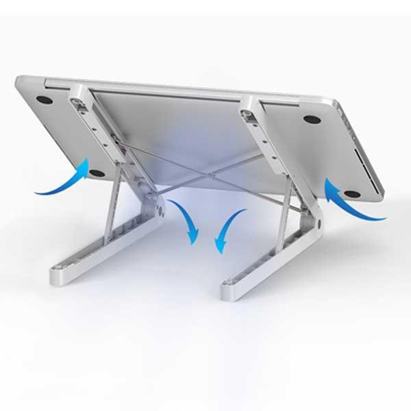 Notebook folding stand
