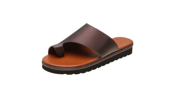 plus size toe sandals casual half drag comfortable breathable flat sandals