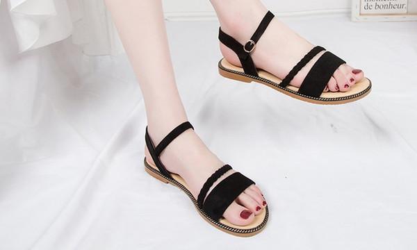 New beach fairy style flat all-match sandals