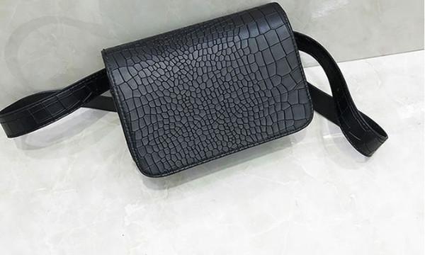 New waist bag lightweight crocodile pattern small square bag