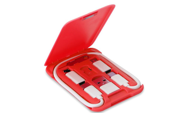 Multi-Function Data Line, USB Cable SIM Tool Set, Data Cable Adapter Card with Storage Box-LA