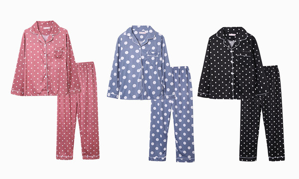 Long Sleeve Polka Dot pyjamas set