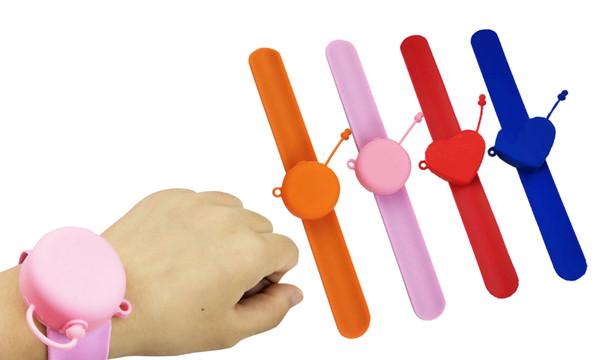 2in1 Silicone Hand sanitizer Slap Bracelet  or Keyring dispenser
