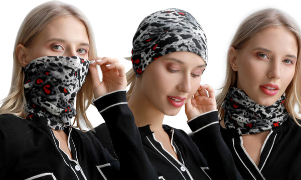 3in1 Ladies Fashion Winter Warm Scarf, face cover and headband
