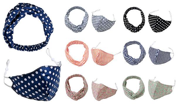 Women Fashion Mask and Headband set