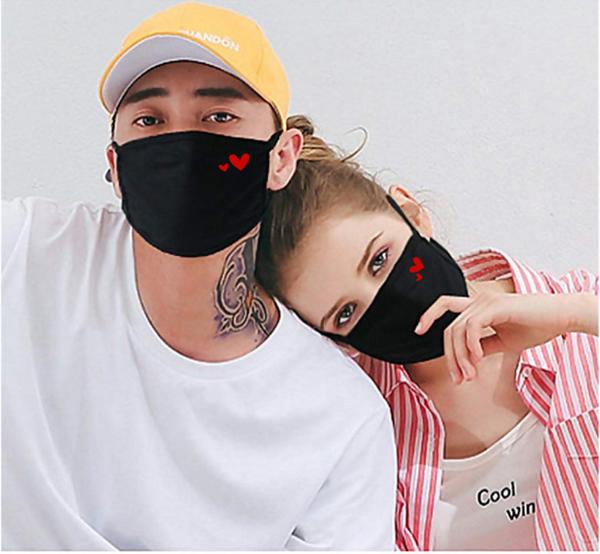Cotton rewashable Valentine day Mask
