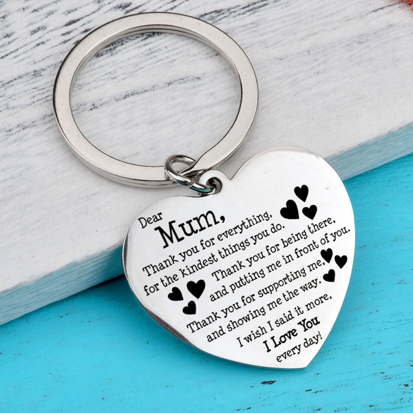 Mother's day engraved keyring
