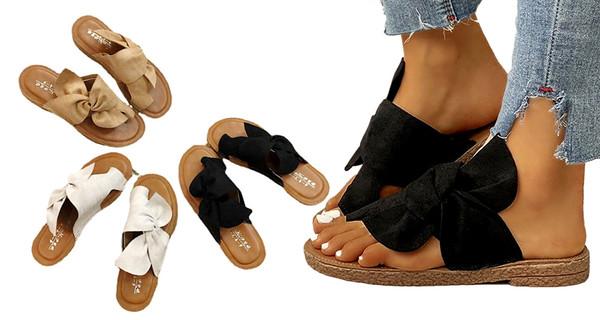 Toe loop Bowtie Soft Comfy  Sandals