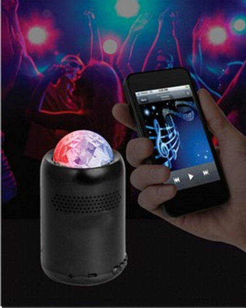 Bluetooth Speaker with rotating night/party light