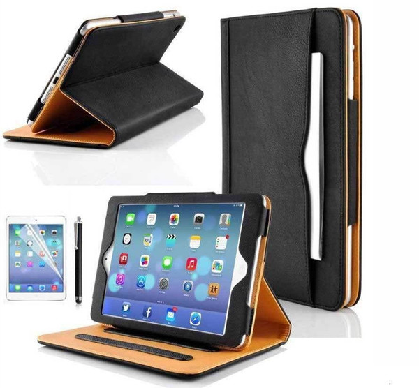 Luxury Magnetic Leather Look Wallet Smart Flip Case Cover For  iPad mini