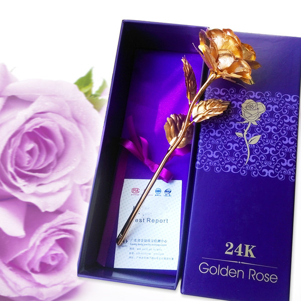 24K Dipped Gold Plated Rose