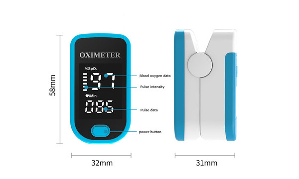 Finger Fingertip Blood Oxygen Meter  Pulse Heart Rate Monitor Oximeter