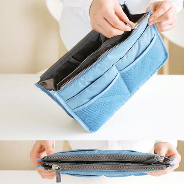 Multi-function Travel Cosmetic Pocket Insert Handbag Organiser Pouch Bag Insert Organizer Bag in Bag