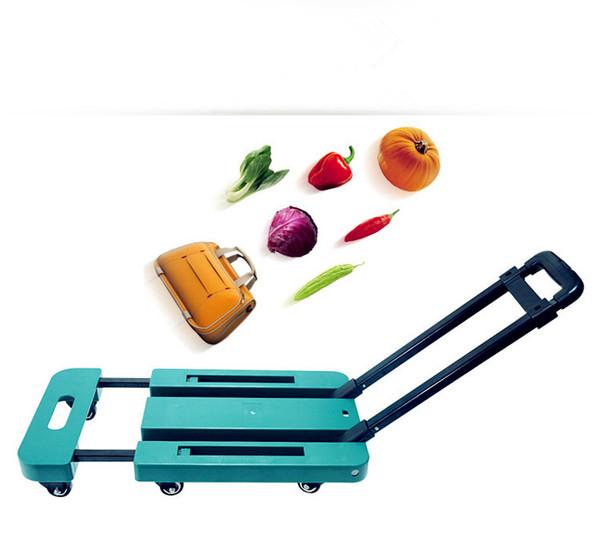 portable car folding mini trolley car camera bag trolley car shopping cart luggage cart