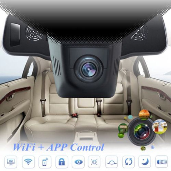 WiFi Car DVR 1080P FHD Night Vision Dash Cam Recorder with rear camera