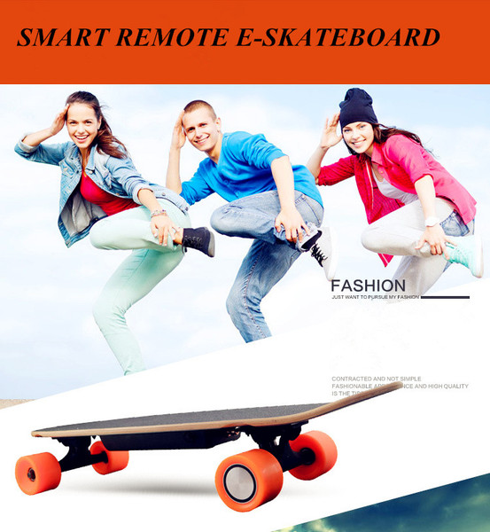 four Wheel Electric Kick Skateboard hoverboard with remote key Self balancing scooter