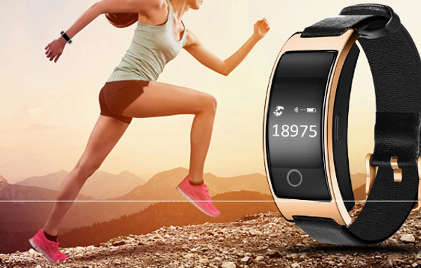 SmartPro 0.66inch Bluetooth Smart Bracelet with Blood pressure tracker,heart Rate monitor, Blood Oxygen Monitor and even more
