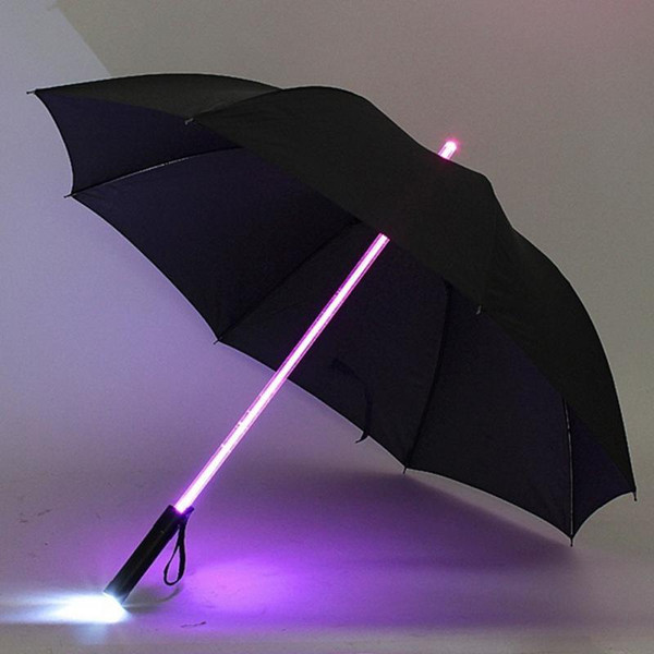 Lightsaber umbrella with built in torch handle