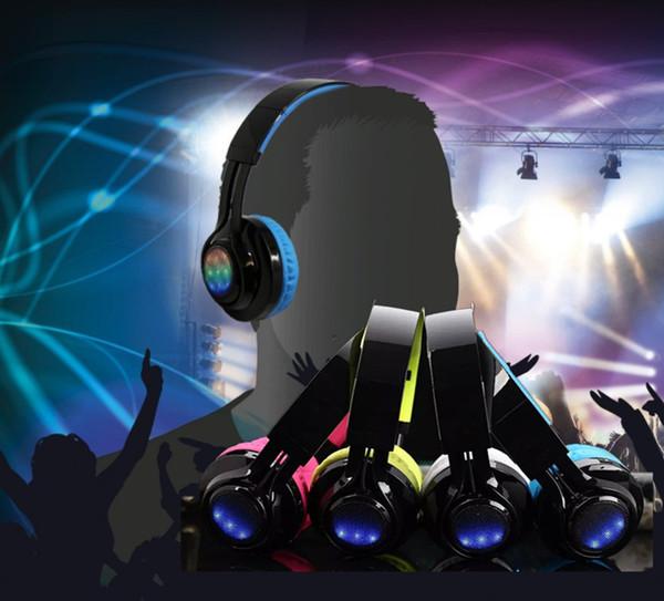 SMARTU Bluetooth LED Light Up Foldable Wireless Headphones