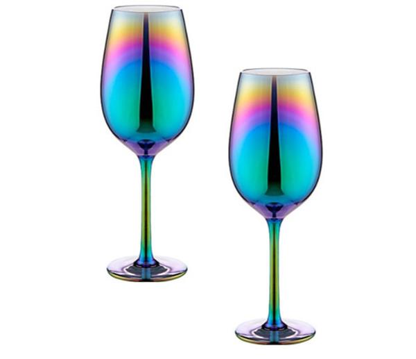 Aurora Iridescent luxury wine glasses 2-pack