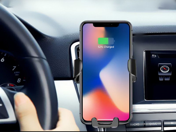 2IN1  QI Wireless Fast Charger with Car Holder Mount