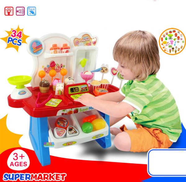 34pcs Kids Super Market play set
