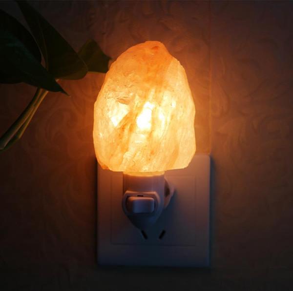 Natural Crystal Himalayan Salt Lamp Night Light 15W