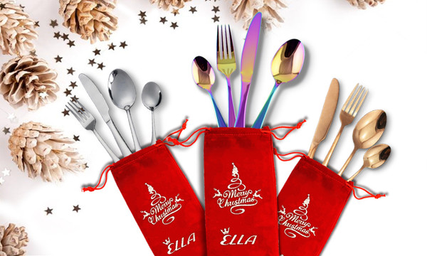 Ella Christmas Cutlery Set