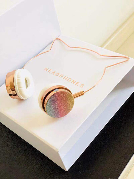 Rose Gold Headphone
