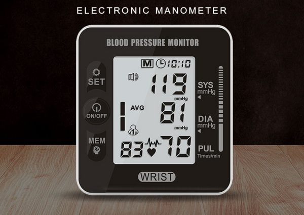 Wristband Blood pressure monitor with voice broadcast